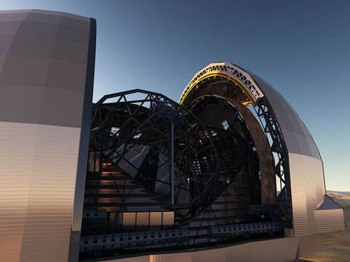 The European Extremely Large Telescope will be the world's biggest telescope when complete