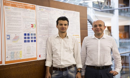 Mohamed Farhat (left) and Hakan Bagci from KAUST's Division of Computer, Electrical, and Mathematical Sciences and Engineering.