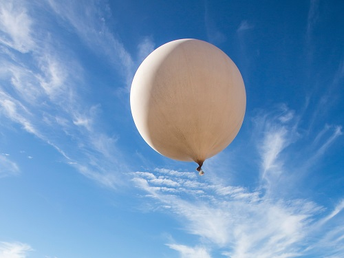 Weather balloons carrying disposable radiosondes are released twice a day at 700 locations around the world to make observations of the upper atmosphere.