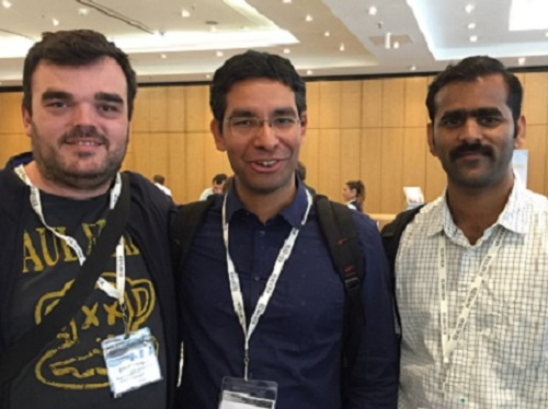 Researchers (L-R), Eddy M. Domingues, Himanshu Mishra and Sankara Arunachalam.