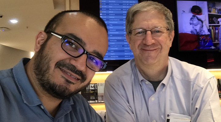 With help from their team at KAUST's Extreme Computing Research Center,  Hatem Ltaief (left) and David Keyes (right) are redesigning numerical algorithms to adapt the mathematical models to the emerging hardware.