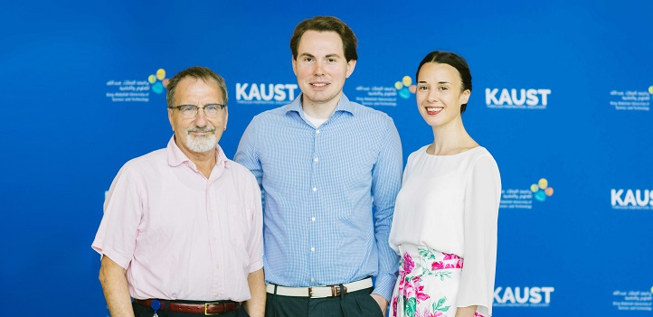 The project's principal investigators (L-R): Nikos Hadjichristidis, Dominik L. Michels and Franziska Lissel.