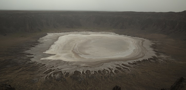 The habitat of the remote Al Wahbah crater, located in western Saudi Arabia, is characterized by low humidity, high evaporation rates and limited rainfall.