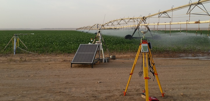 Farmers often uniformly irrigate their crops using pivots without paying specific attention to areas of the field that need more or less water. The team set up ground-based systems to collect evapotranspiration and local weather data to compare with the data derived from CubeSats.