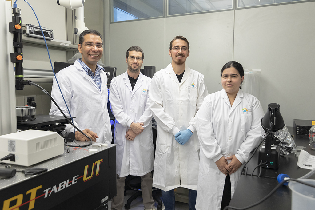 Members of the KAUST team from left to right: Himanshu Mishra, Adriano Sanchez, Adair Gallo and Andreia Farinha.