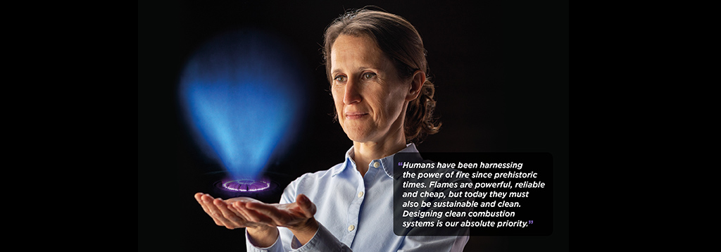 Deanna Lacoste is among a generation of researchers investigating the control of combustion for reducing emissions.