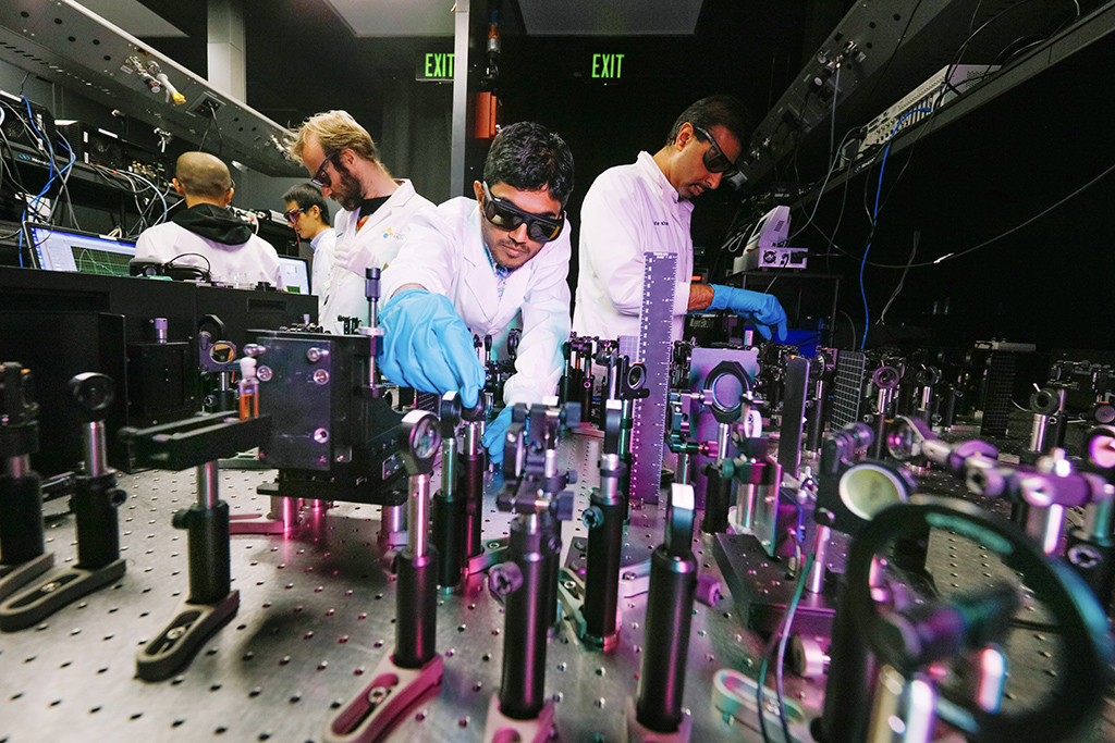 Using a complex laser setup, the team discovered that contrary to recent reports, substantial ionization energy offsets were needed to generate charges.