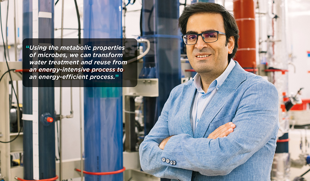 Pascal Saikaly is an associate professor in KAUST's Water Desalination and Reuse Center.
